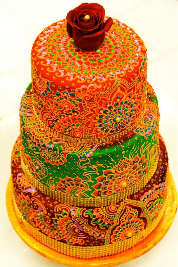 Bollywood Love This Cake The Colors Are Gorgeous Indian