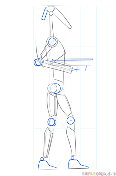How To Draw A Battle Droid : battle, droid, Battle, Droid, Drawing, Tutorials, Tutorial,, Droid,