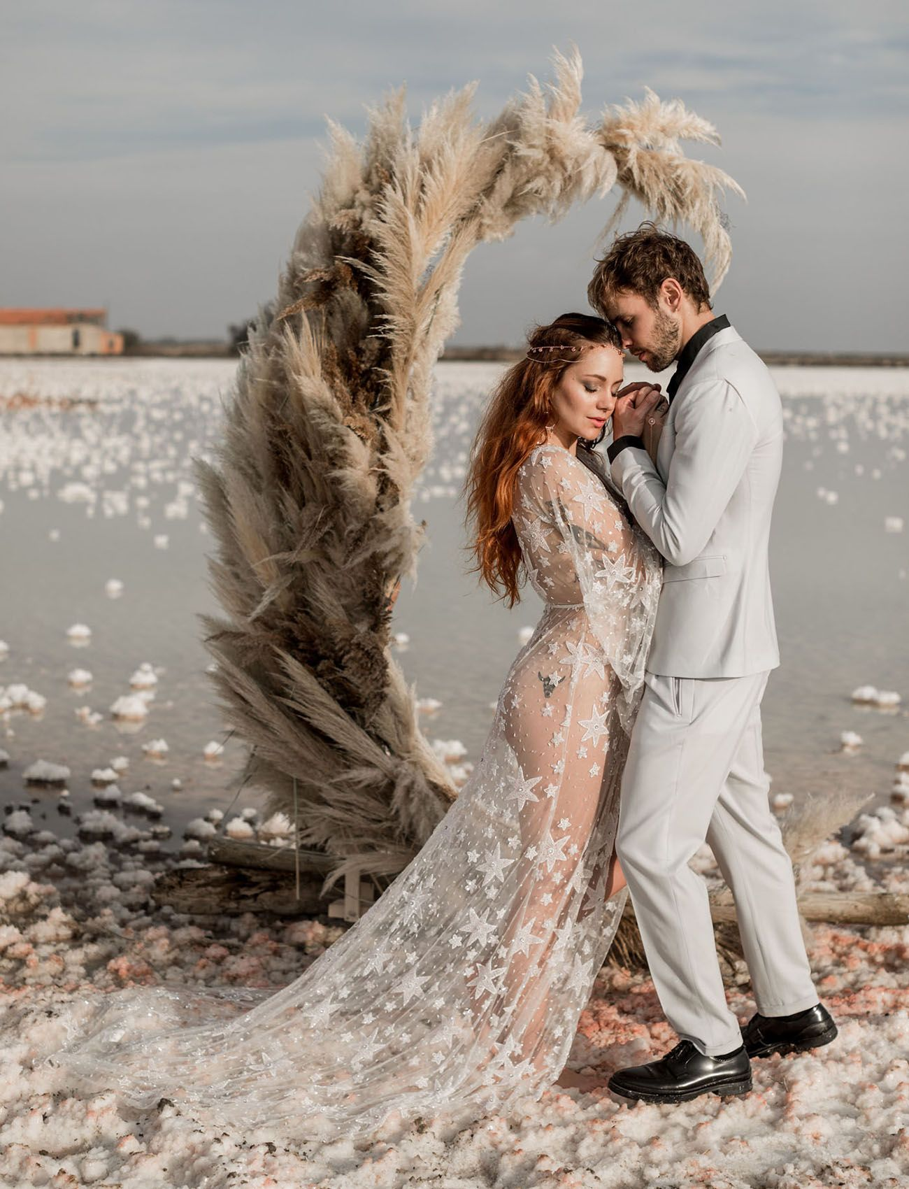 By The Pink Sea A Celestial Inspired Elopement In The South Of