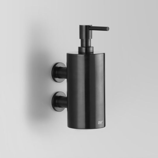 A69.53 Black   Astra Walker Wall Mounted Soap Dispenser Aust