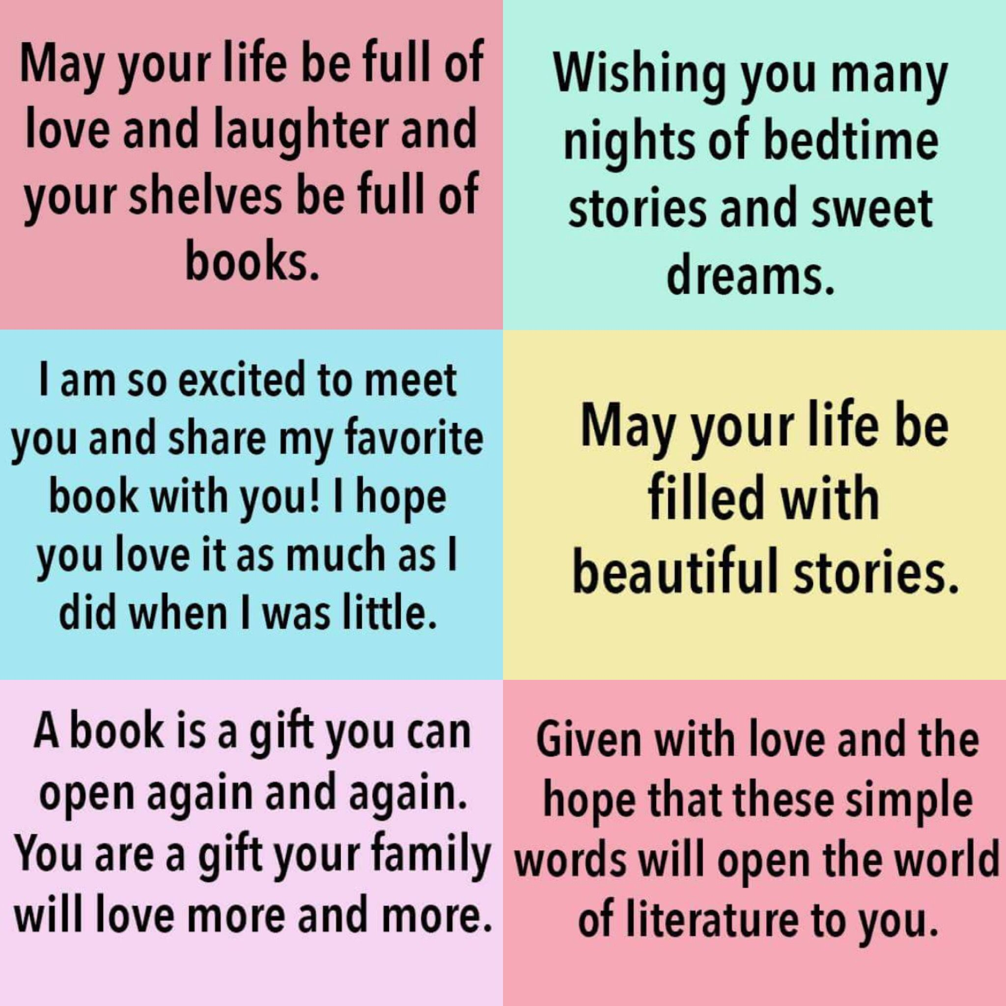 Baby Book Inscription Ideas Baby Shower In 2019 Baby