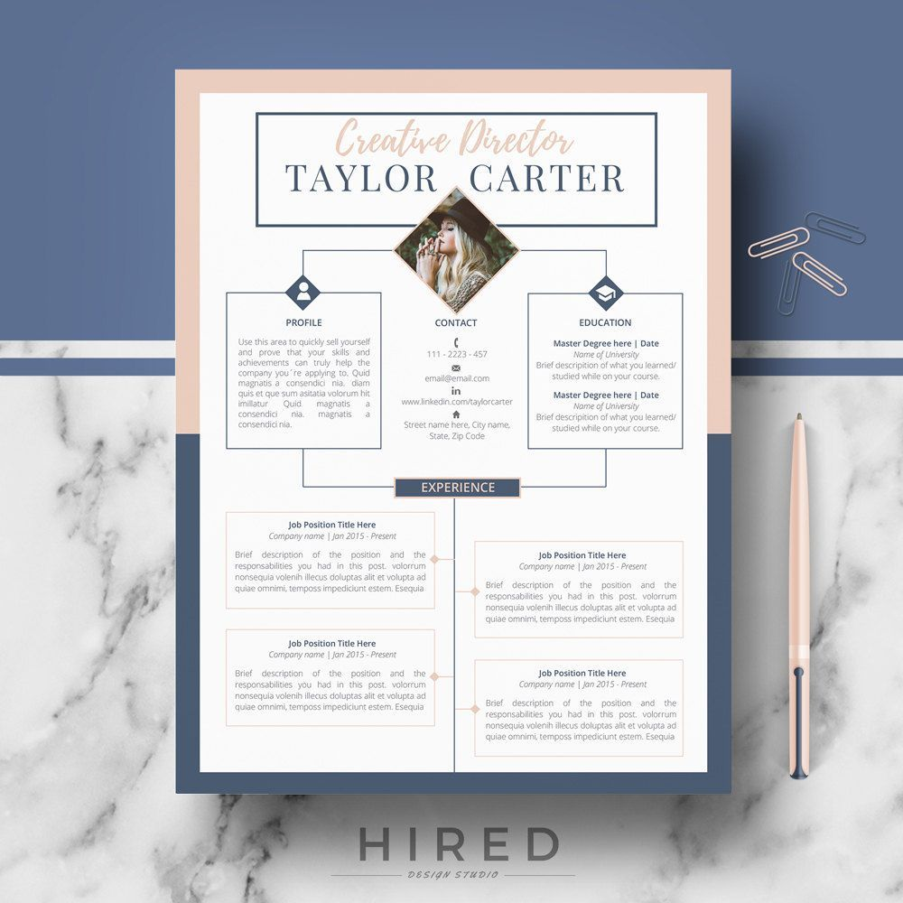 creative resume template for word  taylor