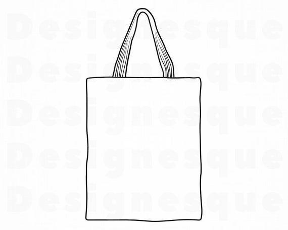 Tote Bag Outline 2 Svg Tote Bag Svg Tote Bag Clipart Tote Etsy Tote Bag Bags Clip Art