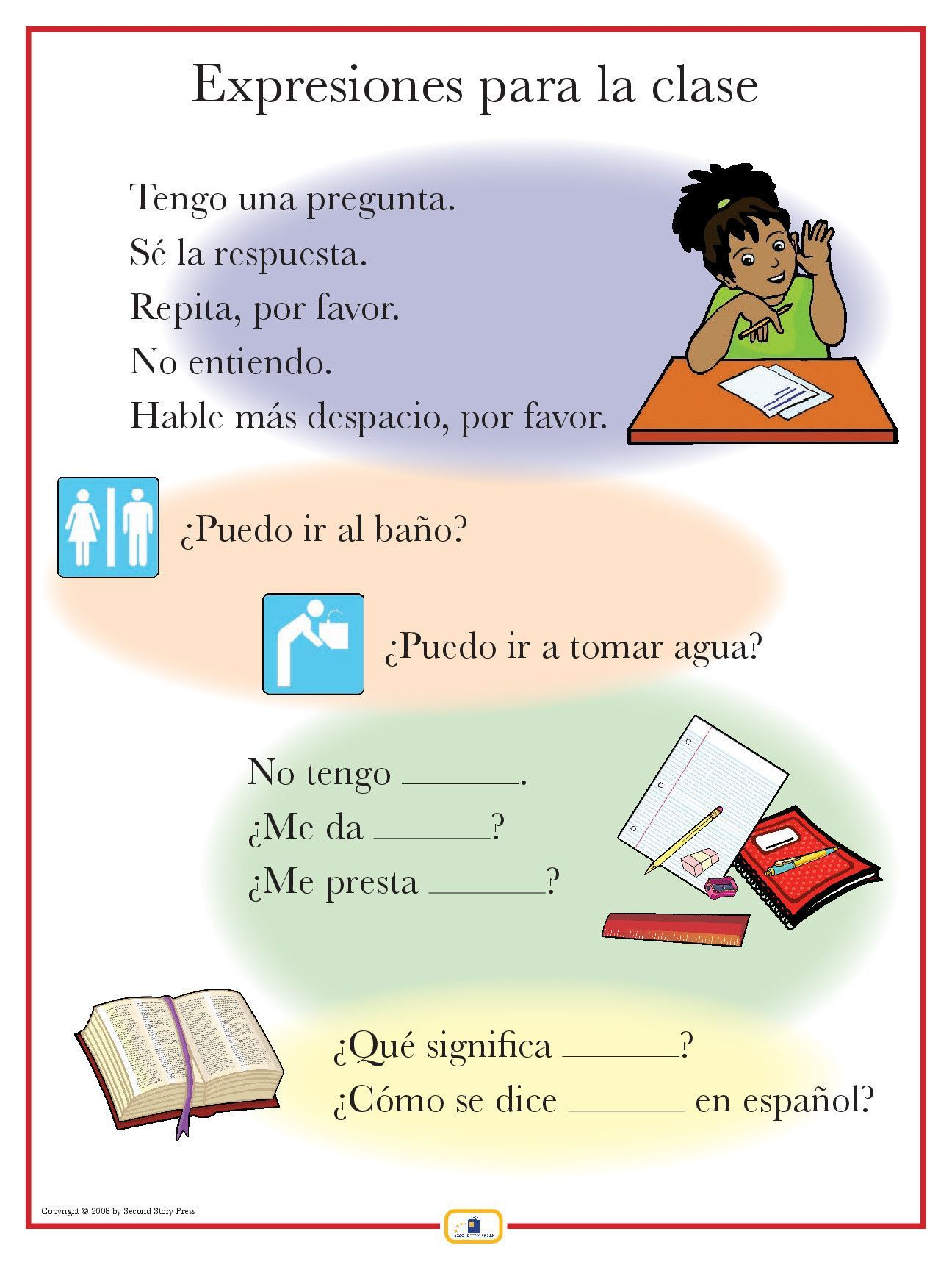 Spanish Phrases Poster | teaching things! | Spanish worksheets ...