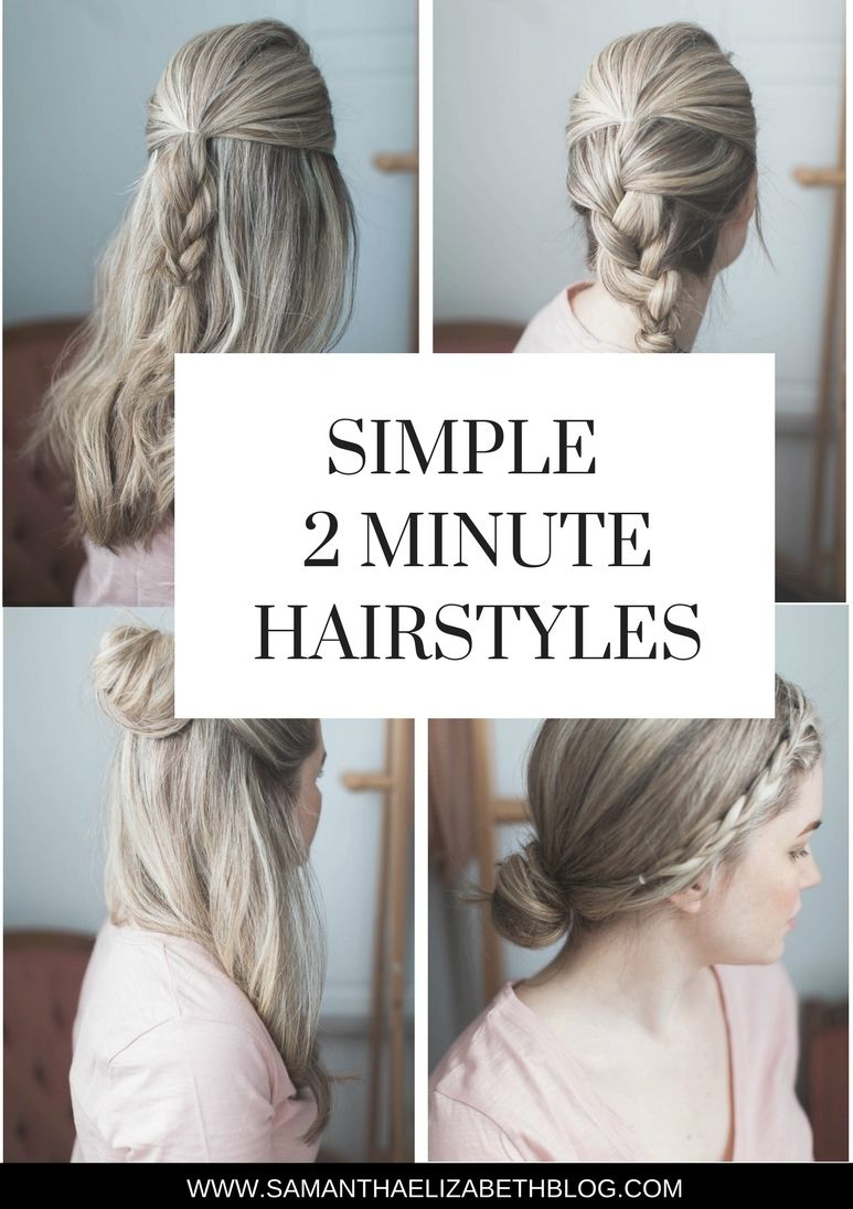 2 Minute Hairstyles Simple 2 Minute Hairstyles  Hairstyles  Pinterest  Hair Inspo