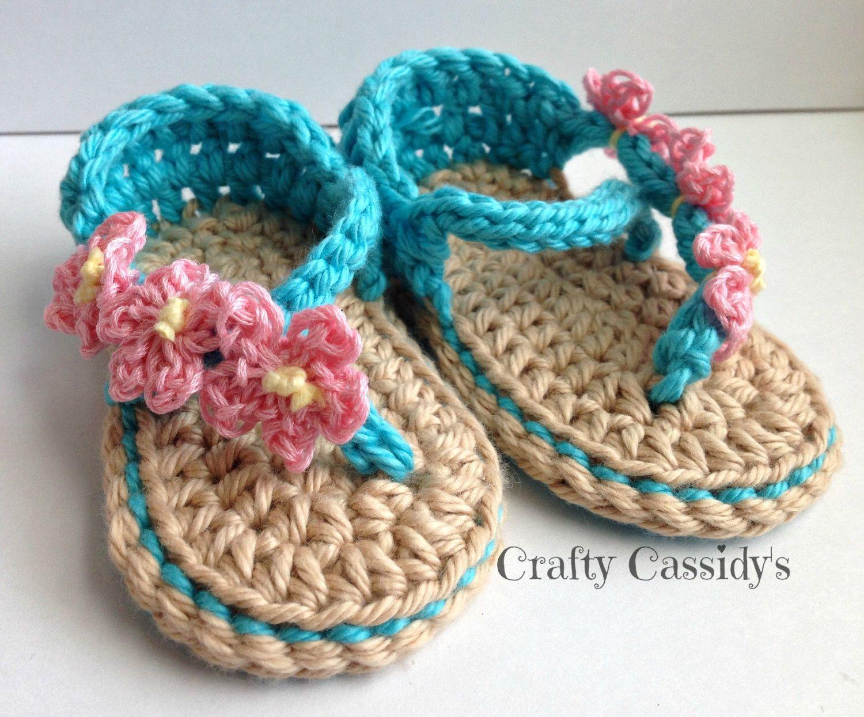 Crochet baby Girl Sandals, crochet newborn sandals, baby girls shoes ...
