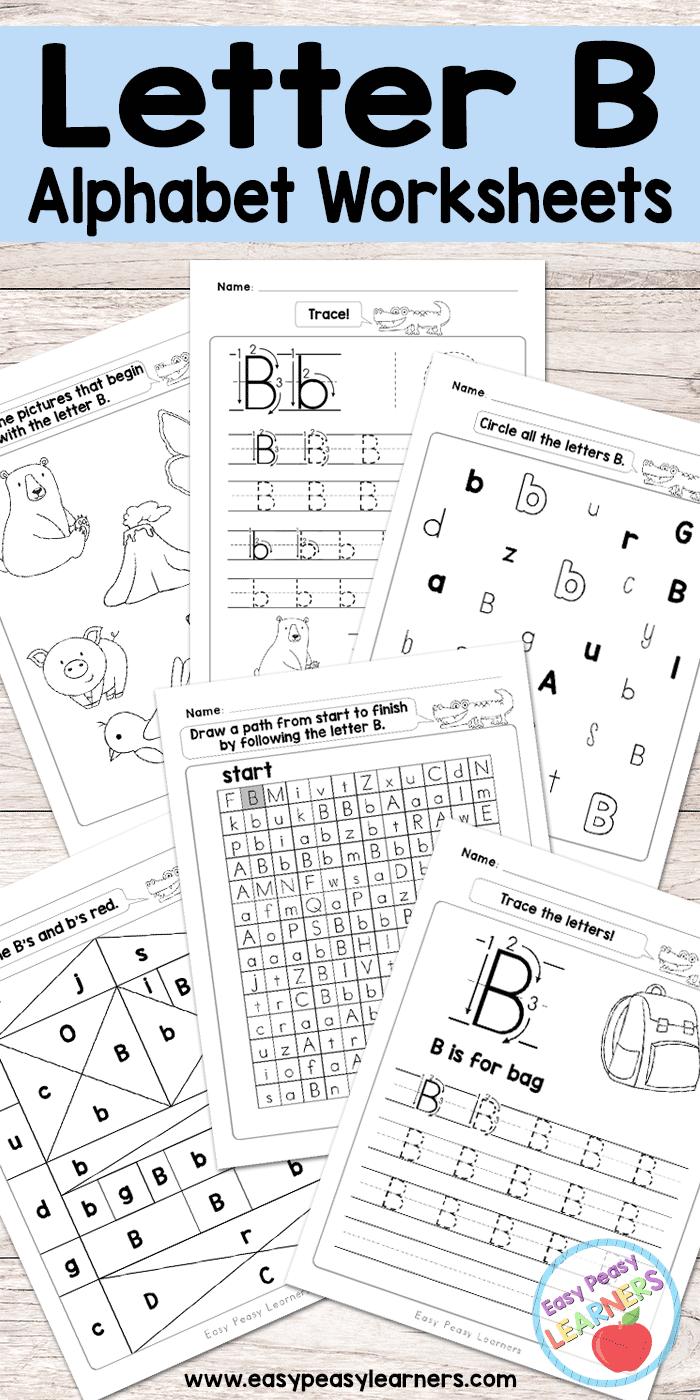 free printable letter b worksheets alphabet worksheets series crafts activities for kids. Black Bedroom Furniture Sets. Home Design Ideas