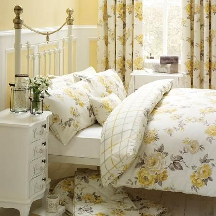 Windermere Yellow Reversible Duvet Cover And Pillowcase Set Duvet Covers Yellow Reversible Duvet Covers Yellow Bedding Sets