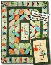 Special Delivery Quilt Pattern by The Quilt Studio at KayeWood.com. Advanced Beginner Signature quilt! Fantastic quilt for a mother-to-be. Lots of space to write advice, and great classroom opportunity! Fun way to combine quilters of different skill levels to come together to make a precious gift! http://www.kayewood.com/Special-Delivery-Quilt-Pattern-by-The-Quilt-Studio-QS-SPDE.htm $8.00