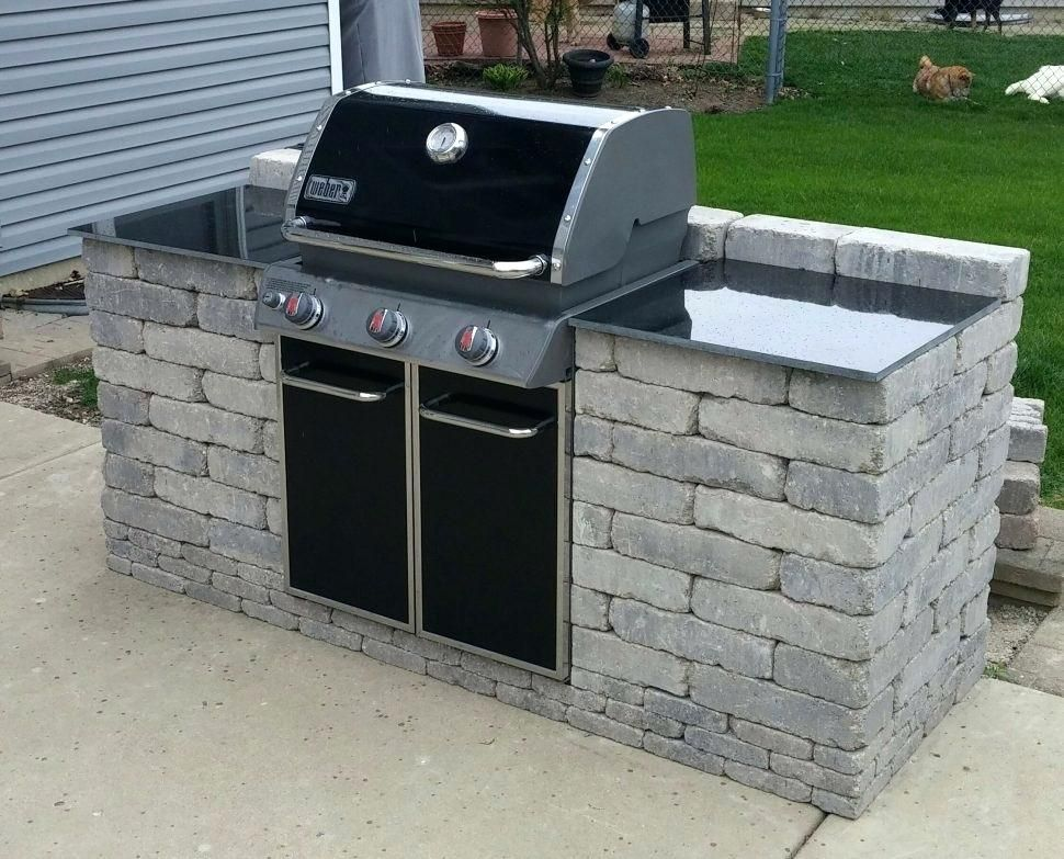 kitchen ideas outdoor kitchen backyard awesome grill built ... on Built In Grill Backyard id=98653