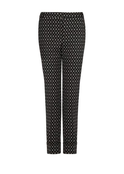 Scarf print cropped trousers