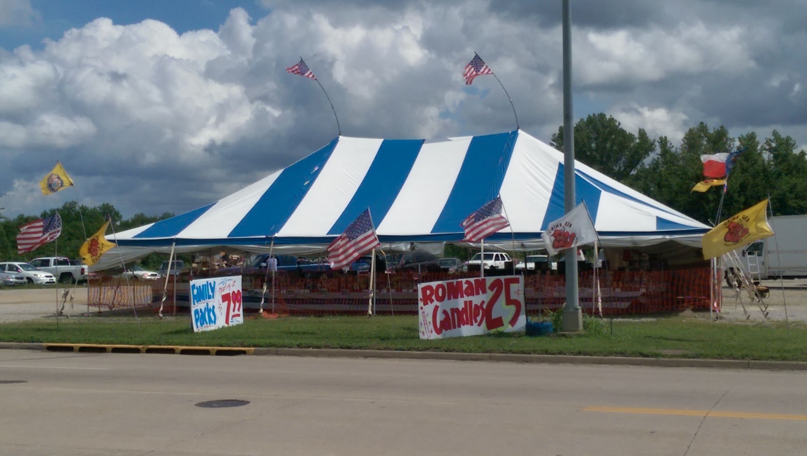 40' x 60' pole tent for fireworks sales in Miami, Oklahoma  | Tents