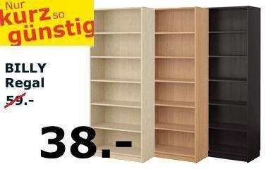Billy Regal Ikea tolle bücherregal billig deutsche deko