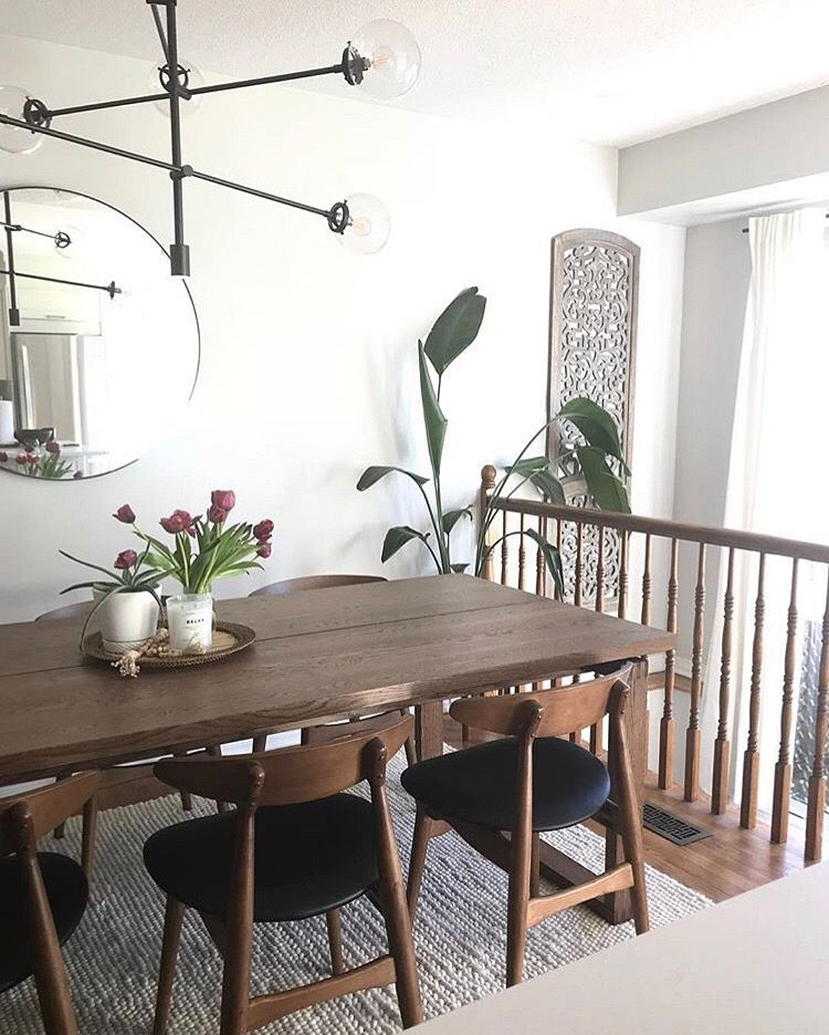 Dining Room Storage Ideas To Keep Your Scheme Clutter Free: Mid Century Table And Chairs, Wood Dining Table