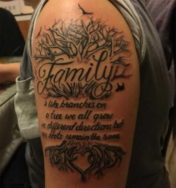 Best 24 family tattoos design idea for men and women for Tattoo ideas men shoulder