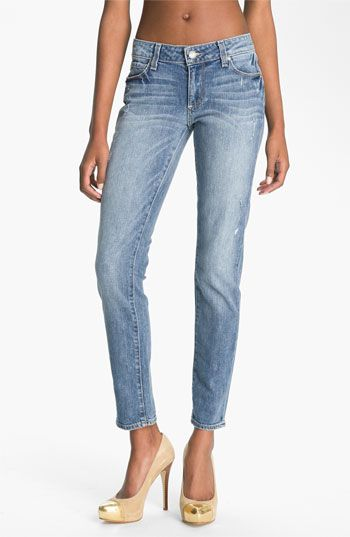Paige 'Skyline - Ankle Peg' Skinny Stretch Jeans (Beachwood) available at #Nordstrom