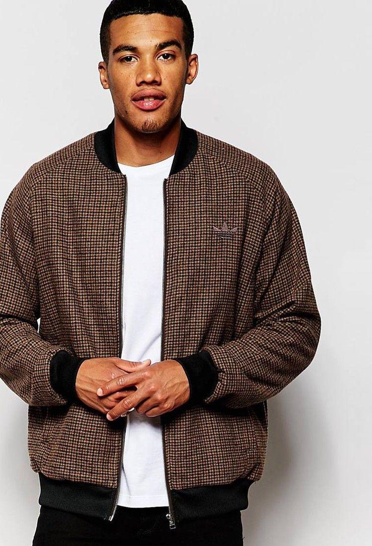 Adidas Originals Tweed Bomber Jacket Ab7641 Bomber Jacket Adidas Originals Mens Tops [ 1100 x 750 Pixel ]