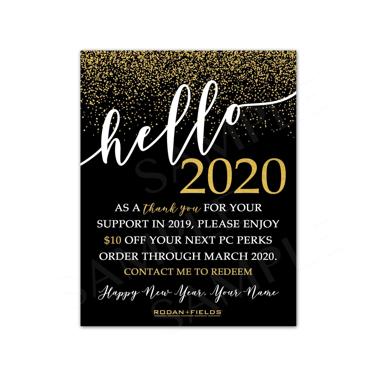 Rodan Fields New Year Card
