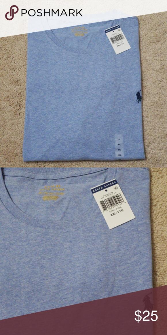 73be9aa4 Polo Ralph Lauren T-shirt Men's cobalt hea short sleeve crew neck t ...