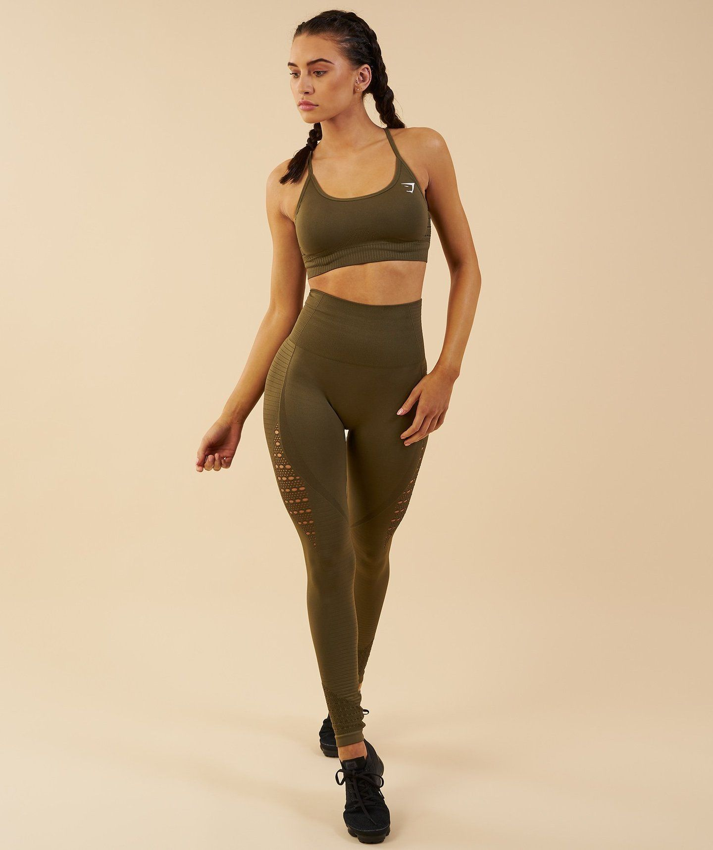 ded937ef7a217d Gymshark Seamless Energy High Waisted Leggings - Khaki 4