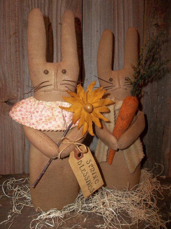 Pair of Sweet Primitive Handmade Spring by Sweetrainprimitives