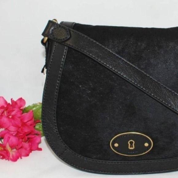 Fossil Handbags - Fossil Calf Hair Crossbody Messenger Bag!