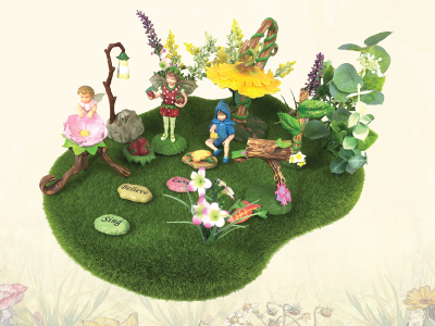 Complete guide to create your own fairy, imaginary, real garden with flower fairies garden kits. Watch video today!