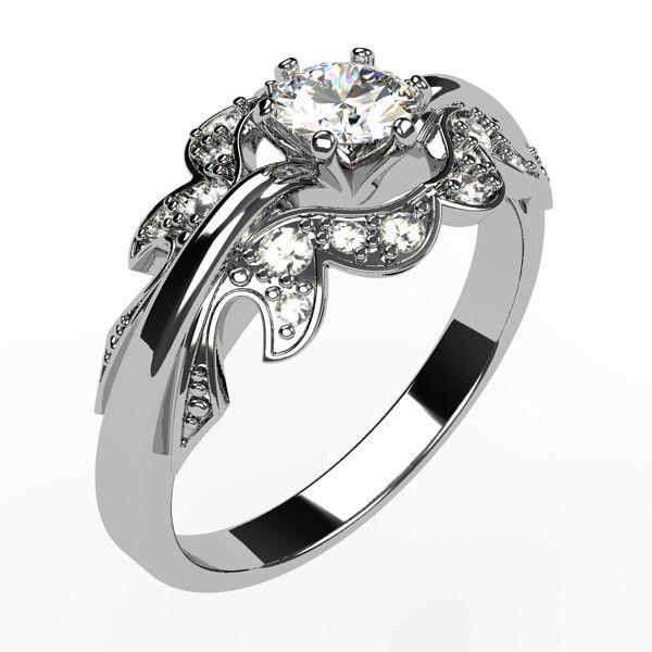 Argent sterling Bague Diamant 0.15 carat