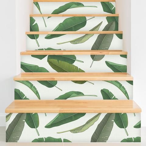 Removable Wallpaper From WallsNeedLove Will Save You Time And Money Plus This Banana Leaf Pattern Is Adorable