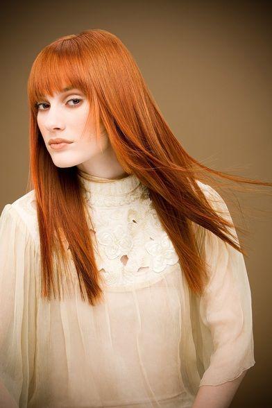 Sleek Red Hair
