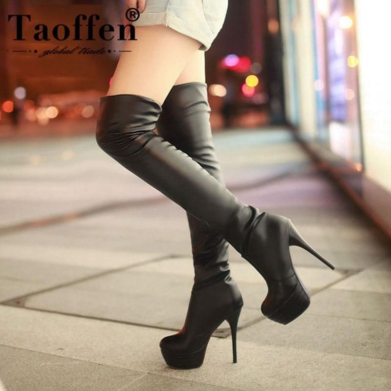 34-46 Women/'s Over The Knee Thigh Platform Boots Stiletto High Heels Shoes Boots