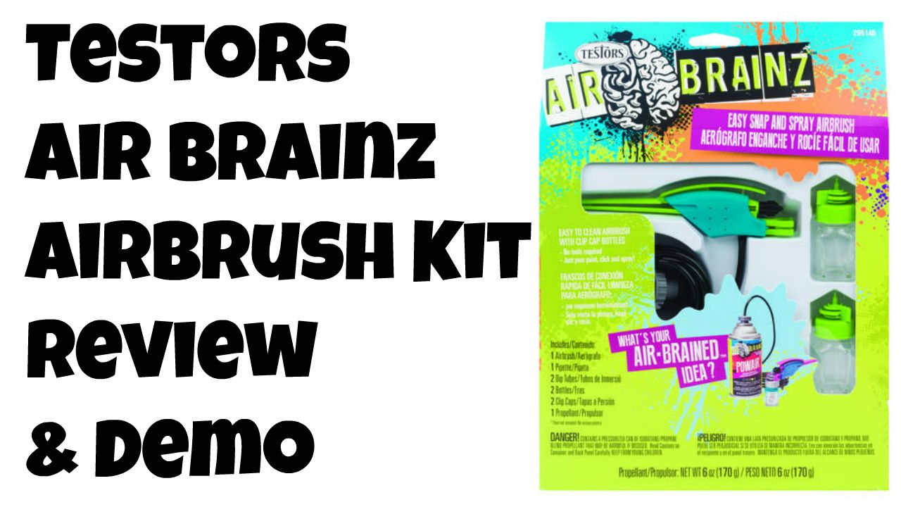 Testors Airbrainz Air Brush Review And Demo From Crafttestdummies