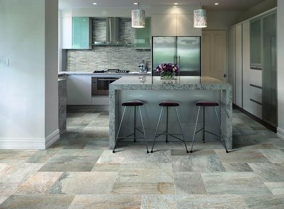 stone flooring for kitchen bringing traditional and elegant looks - Stone Flooring For Kitchen
