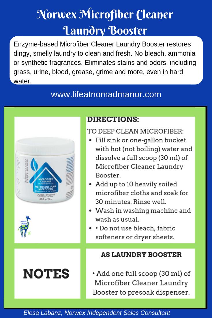 Norwex Microfiber Cleaner Laundry Booster Norwex Microfiber