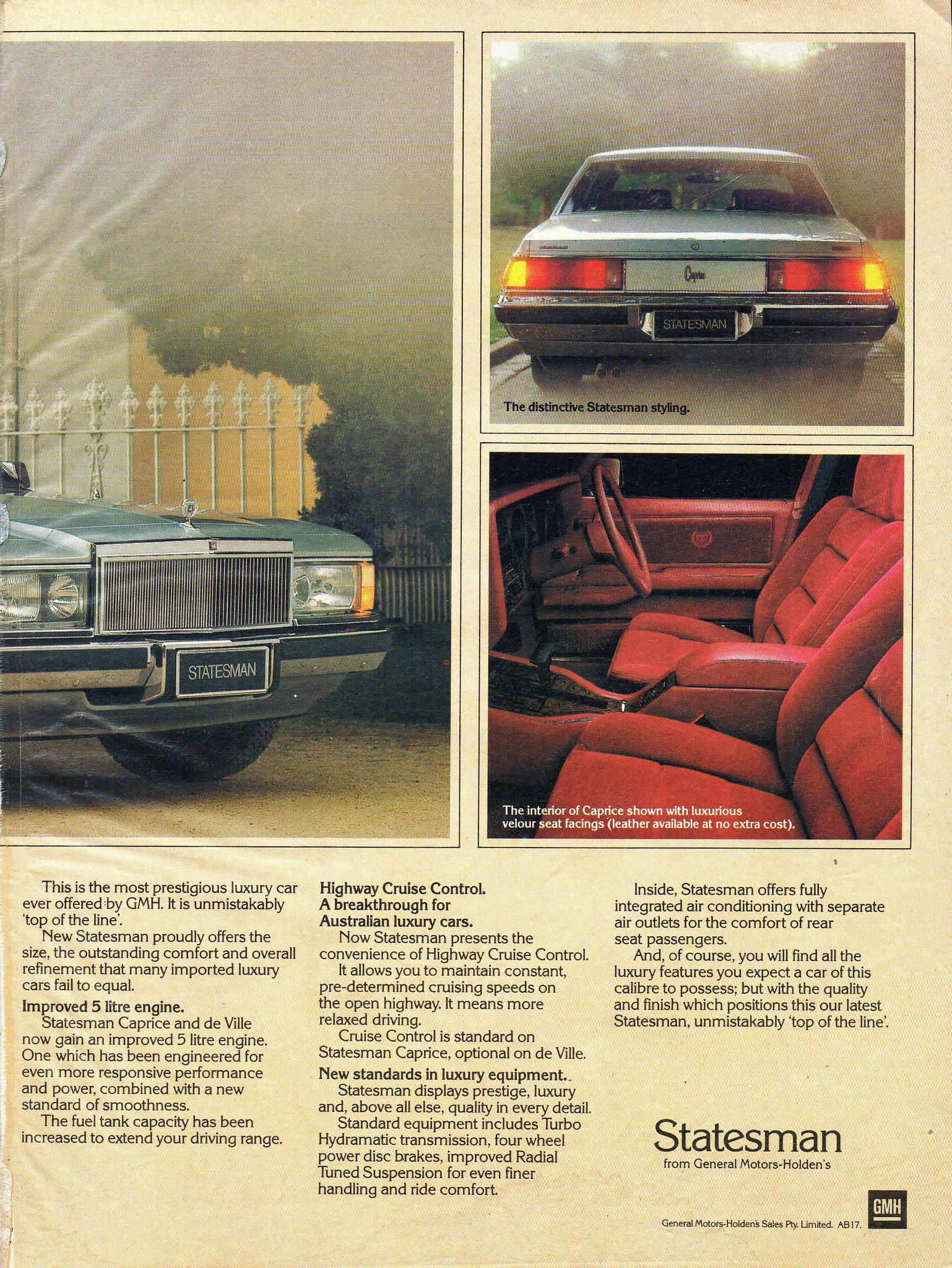 1981 WB Statesman Caprice Series I By Holden Page 2 Aussie Original