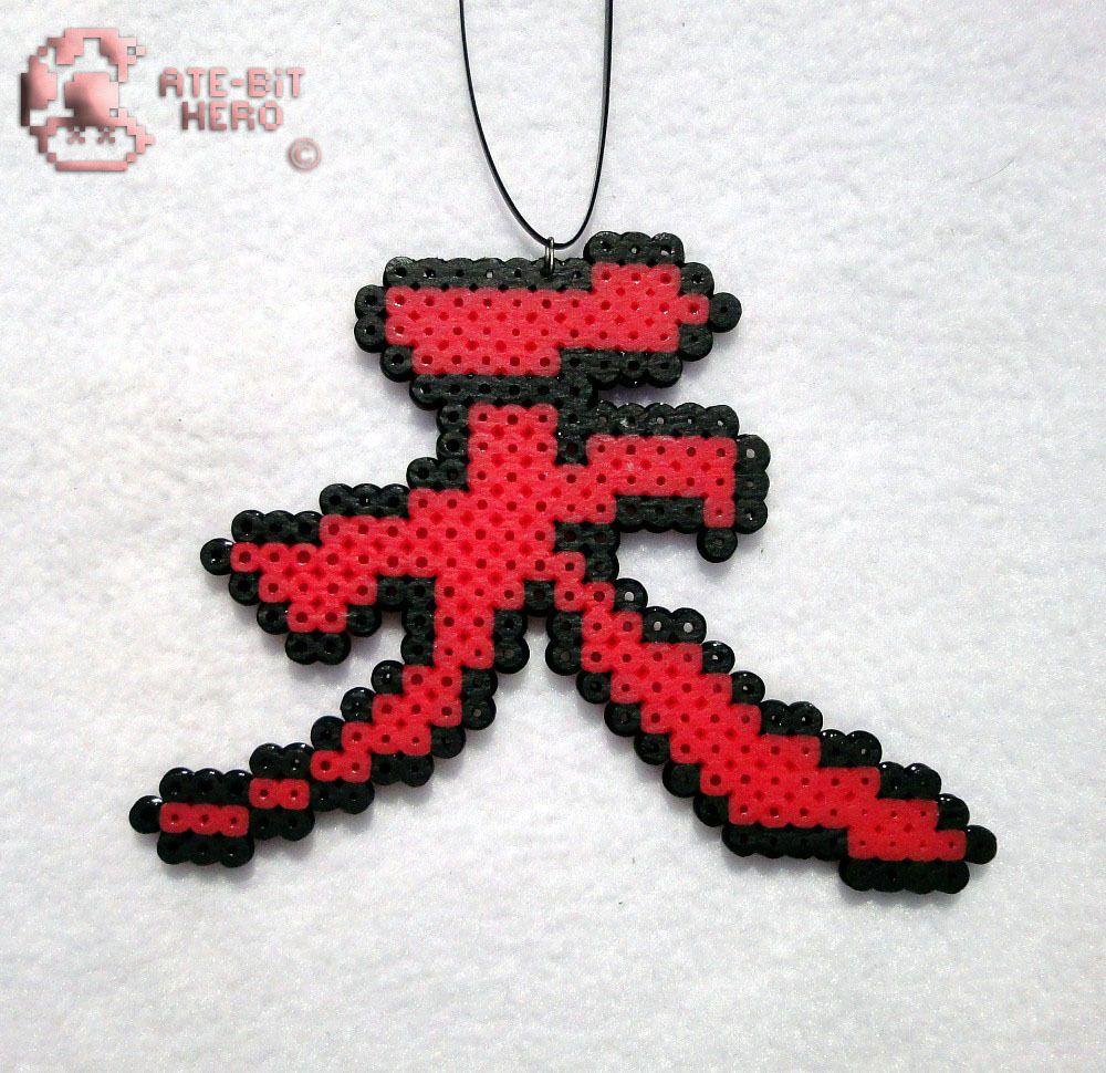 6 Street Fighter Akuma Kanji Symbol Necklace Bead Sprite Perler Art Ate Bit Ebay Electronics Bead Sprite Perler Beads Designs Perler Bead Patterns