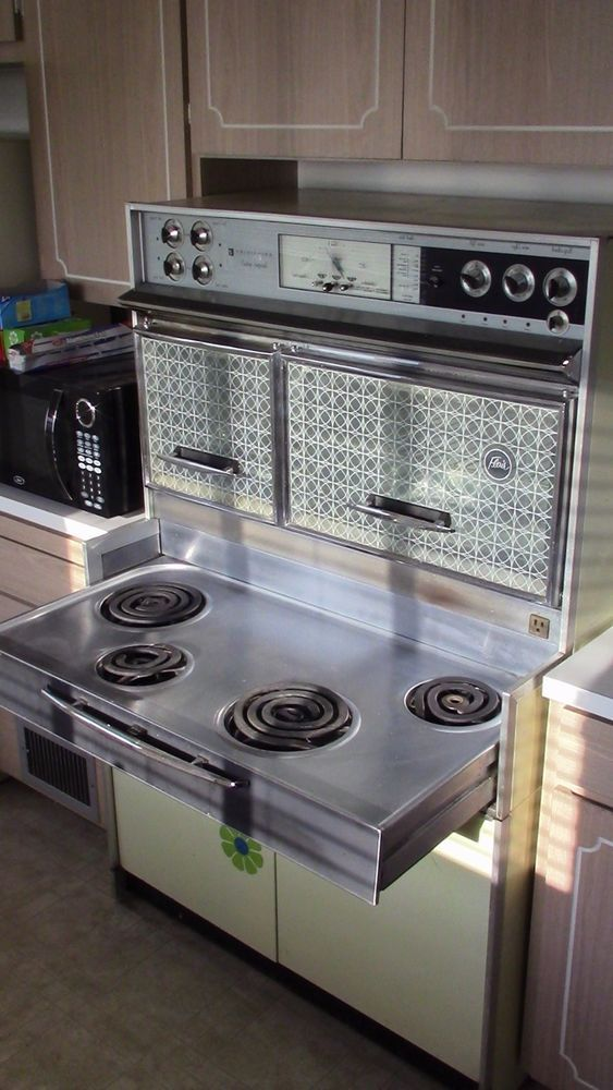 Vintage Electric Stoves For Sale >> Vintage 1950s Electric Frigidaire Custom Imperial Flair Stove/Double Oven   Stove, Mid century ...