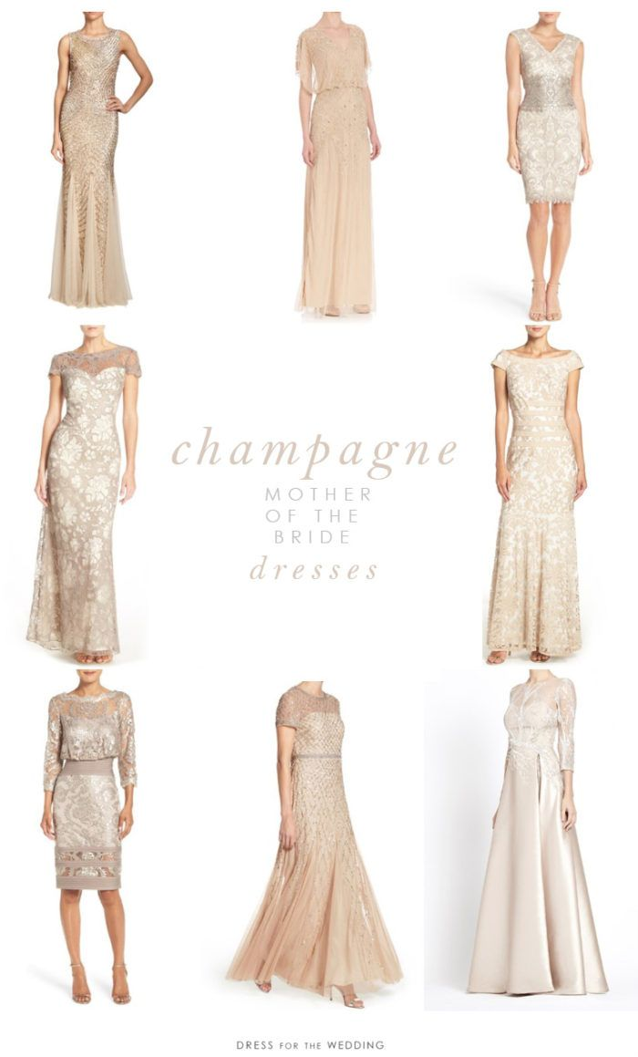 Champagne Colored Mother of Brides Wedding Dresses