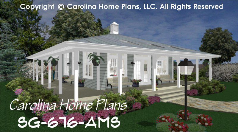 One story house plans with porch Home design and style