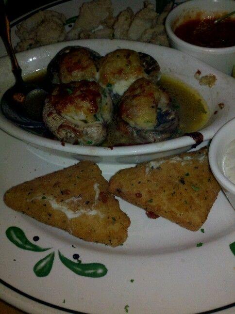 Genial Mozzarella Stix, Stuffed Mushroom, N Calamari Appetizer From Olive Garden  Round Rock TX