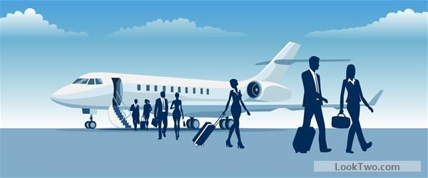 Free Business travel with businessman silhouetter vector 03  vector download