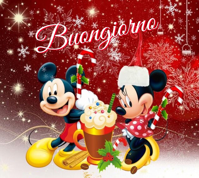 Auguri Di Natale Disney.Buongiorno Buongiorno Buongiorno Natale E Disney