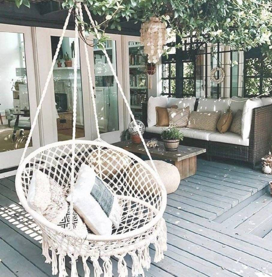 Boho Dream Catcher Hanging Chair Rattan Chair Hammock Swing Etsy Outdoor Patio Decor Swing Chair Outdoor Hanging Hammock Chair
