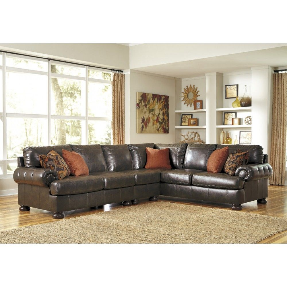 Ashley Furniture Nesbit DuraBlend Sectional in Antique  sc 1 st  Pinterest : capote durablend sectional - Sectionals, Sofas & Couches