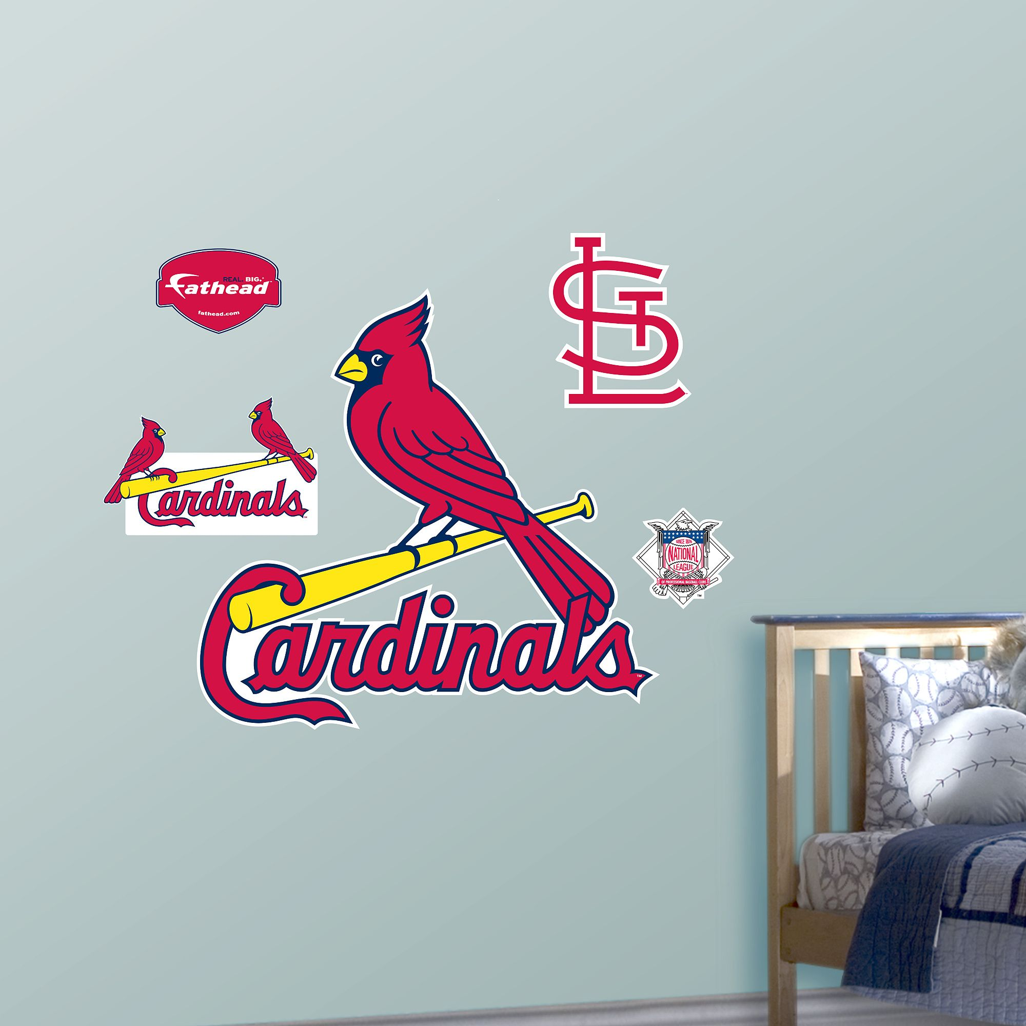 St Louis Cardinals Logo Baseball Wall Decal Cardinals St Louis Cardinals