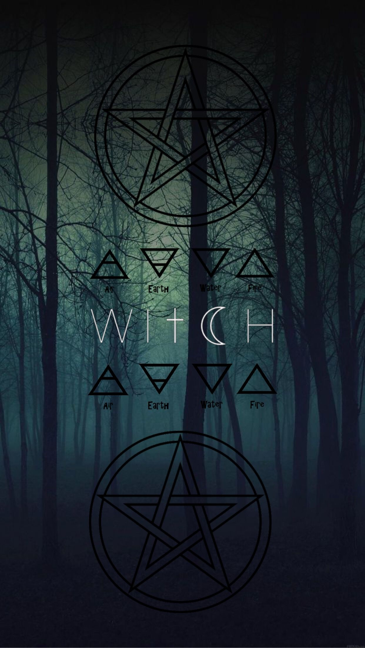 Witch Black Version Free Smartphone Wallpaper By Malabee Witch Wallpaper Witchy Wallpaper Wiccan Wallpaper