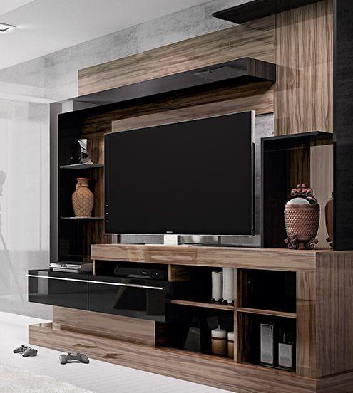 Basement home centro de entretenimiento fascino ideas for Muebles de sala de entretenimiento