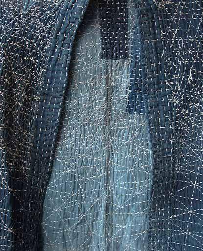 Sashiko stitching on vintage boro garment