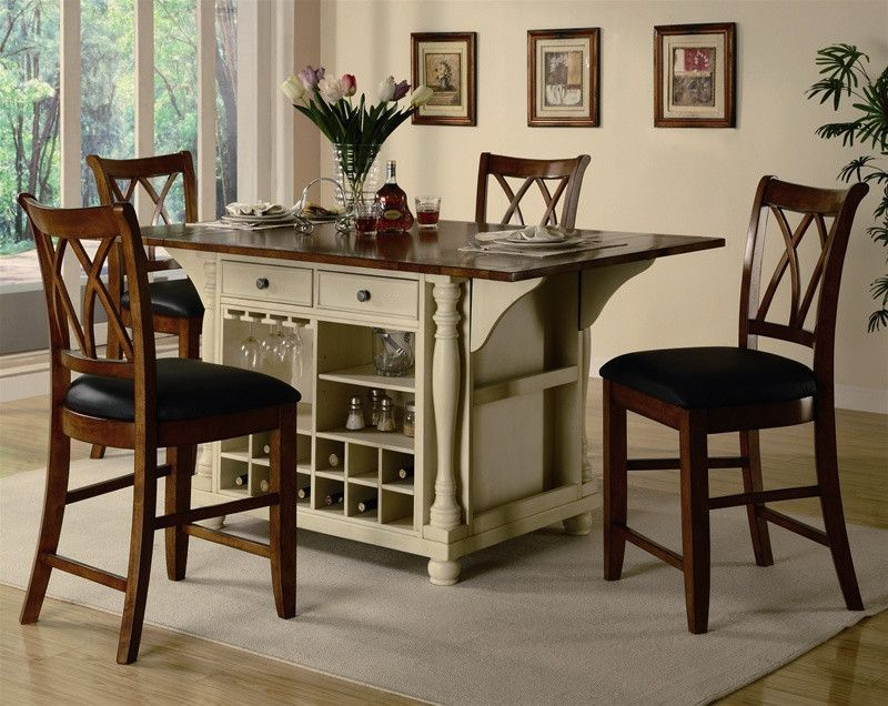Kitchen Island Sets Marble Floor Carts Two Tone Set My House