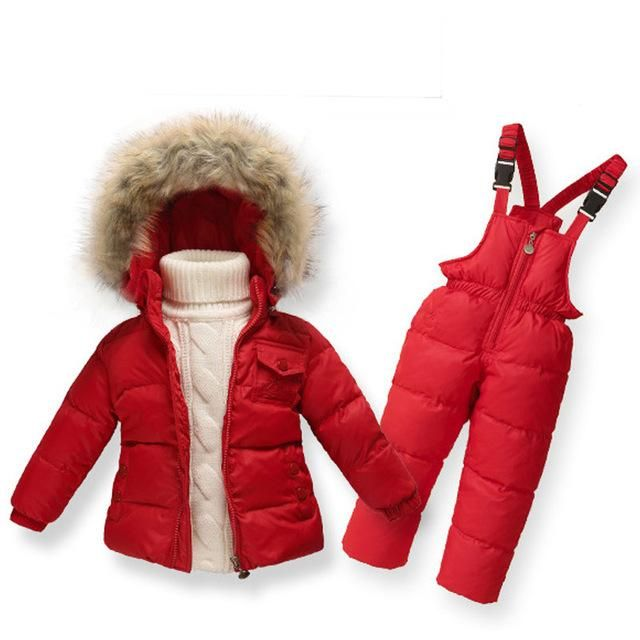 d3363c211240 Clearance Winter Girls Clothing Sets Ski Suit Boys Clothes Down Girl ...
